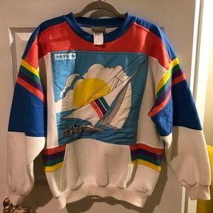 RARE Retro Vintage 80's Adidas Regatta Sweatshirt